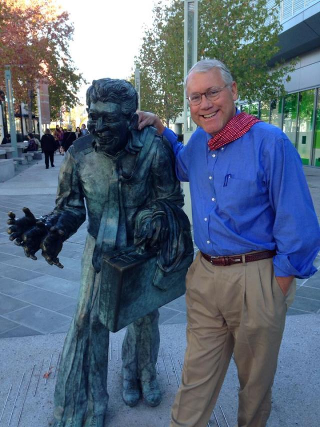 Terry and bronze man Statue in SF .jpg